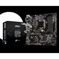 Материнская плата MSI B360M PRO-VDH, Socket1151v2, Intel B360, 4xDDR4, PCI-Ex16, 6SATA3, 7.1-ch, GLAN, 6USB 3.1, USB Type-C, VGA, DVI, HDMI, mATX, Retail