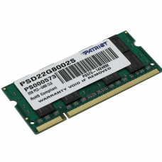Память DDR2 SODIMM 2Gb, 800MHz, CL6, 1.8V PATRIOT (PSD22G8002S)