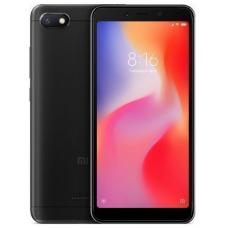 """Смартфон Xiaomi Redmi 6A 5.45"""", 1440x720 IPS, Mediatek Helio A22, 2Gb RAM, 16Gb, 3G/LTE, WiFi, BT, 2x Cam, 2-Sim, 3000mAh, Android 8.1, черный"""