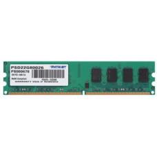 Память DDR2 DIMM 2Gb, 800MHz, CL6, 1.8V PATRIOT (PSD22G80026)