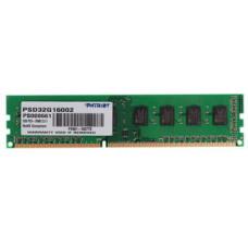 Память DDR3 DIMM 2Gb, 1600MHz, CL11, 1.5V PATRIOT (PSD32G16002)