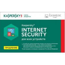 ПО Kaspersky Internet Security Multi-Device Russian Ed 2 устройства 1 год Renewal Card (KL1941ROBFR)