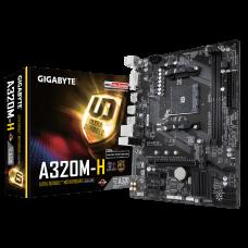 Материнская плата GIGABYTE GA-A320M-H , SocketAM4, AMD A320, 2xDDR4, PCI-Ex16, 4SATA3, 7.1-ch, GLAN, 6USB 3.1, DVI, HDMI, microATX, Retail
