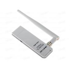 Адаптер Wi-Fi TP-LINK TL-WN722N, 802.11n, 2.4 ГГц, до 150 Мбит/с, 20 дБм, USB, внешних антенн: 1x4dBi