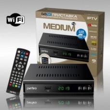 """РЕСИВЕР DVB-T2/C PERFEO """"MEDIUM"""" (WI-FI, IPTV, 2 USB, HDMI)"""