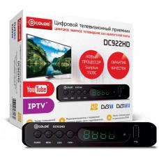 Цифровой ресивер D-COLOR DC922HD DVB-T2, черный