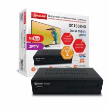 Цифровой ресивер D-COLOR DC1602HD DVB-T2, WiFi, черный
