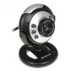 Веб-камера Defender C-110 0.3MP, 640x480, микрофон, USB 2.0, черный/серый