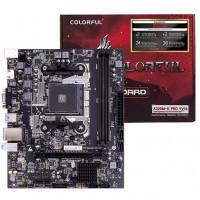 Материнская плата COLORFUL A320M-K YV14, SocketAM4, AMD A320, 2DDR4, PCI-Ex16, 4SATA3, 7.1-ch, LAN, 4USB 3.0, VGA, HDMI, mATX, Retail