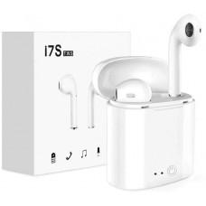 Беспроводные Bluetooth-наушники i7S TWS белые