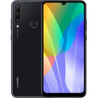 "Смартфон Huawei Y6p 3/64GB, 6.3"" 1600x720 IPS, Mediatek Helio P22 (MT6762V), 3Gb RAM, 64Gb, 3G/LTE, NFC, WiFi, BT, 3xCam, 2-Sim, 5000mAh, micro-USB, Android 10.0, черный"
