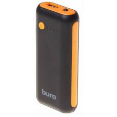 Портативный аккумулятор (Powerbank) Buro RC-5000, 5000mAh, 1xUSB, черный-оранжевый