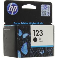 Картридж струйный HP 123 (F6V17AE), черный, оригинальный, ресурс 120 страниц, для HP DeskJet 2130