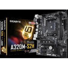 Материнская плата GIGABYTE GA-A320M-S2H, SocketAM4, AMD A320, 2xDDR4, PCI-Ex16, 4SATA3, 7.1-ch, GLAN, 6USB 3.1, VGA, DVI, HDMI, mATX, Retail