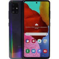 "Смартфон Samsung Galaxy A51 6.5"", 2400x1080 Super AMOLED, 6Gb RAM, 128Gb, 3G/LTE, NFC, WiFi, BT 4xCam, 2-Sim, 4000mAh, USB Type-C, Android, черный"