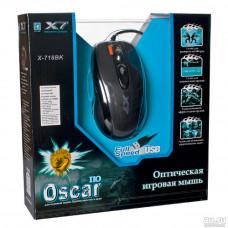 Мышь A4Tech X-718BK, 3000dpi, оптическая светодиодная, USB, черный