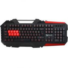 Клавиатура A4Tech Bloody B3590R, механическая, Brown Switch, подсветка, USB, черный/красный