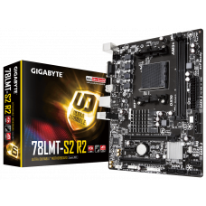 Материнская плата GIGABYTE GA-78LMT-S2 R2, SocketAM3+, AMD 760G, 2xDDR3, PCI-Ex16, 6SATA2, GLAN, VGA, microATX, Retail