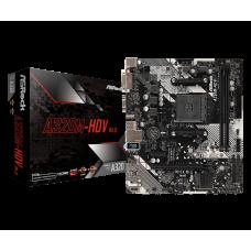 Материнская плата ASRock A320M-HDV R4.0, AM4, AMD A320, 2DDR4, PCI-Ex16, 4SATA3, 7.1-ch, 6USB 3.0, VGA, DVI, HDMI, microATX, Retail