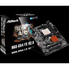 Материнская плата ASRock N68-GS4 FX R2.0, SocketAM3+, GF7025, 2DDR3, PCI-Ex16, 4SATA2, 5.1-ch, VGA, mATX, Retail
