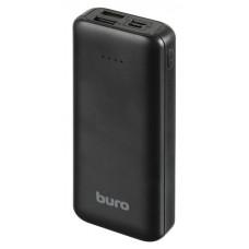 Портативный аккумулятор (PowerBank) Buro RA-10000SM, 10000mAh, 2xUSB, 3A, черный