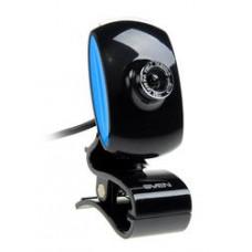 Веб-камера Sven IC-350 0.3MP, 640x480, микрофон, USB 2.0, черный/синий